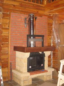 Установка камина в деревянный дом коаксиальный дымоход 80 125