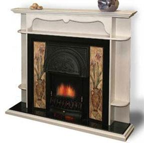 kamin-Real-flame-Carmel-white
