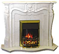 kamin-Real-flame-Burgundy-marble