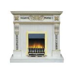 kamin-Real-flame-Corsica-white-gold-Valor-Blenheim-brass