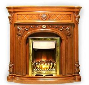 kamin-Real-flame-Adelia-antique
